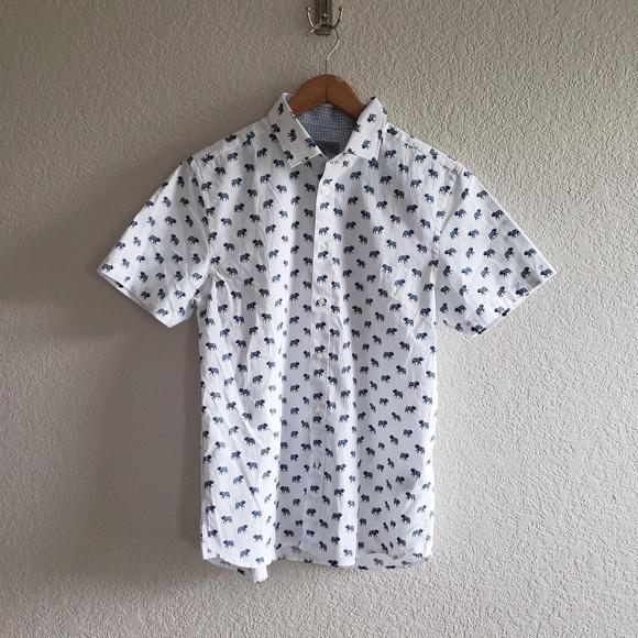 Ted Baker London Other - Ted Baker Blue Elephant Short Sleeve Shirt